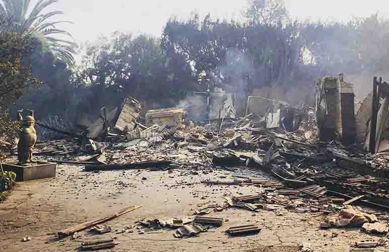 burned houses with natural disasters